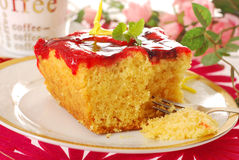 Joghurtkuchen mit Fruchtgelee Lizenzfreies Stockbild