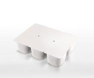 Joghurtverpacken Lizenzfreies Stockfoto