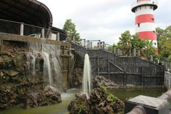 Jogja海湾在yagyakarta的水旅游业 图库摄影