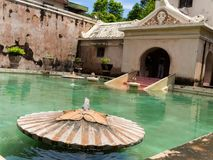 JOGJA, INDONÉSIE - 12 août, 2O17 : Palais de l'eau de Taman Sari de Yogyakarta sur l'île de Java, Indonésie Images stock