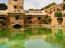 JOGJA, INDONESIA - AUGUST 12, 2O17: Taman Sari water palace of Yogyakarta on Java island, Indonesia Stock Images