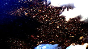 Jogjakarta från himlen Arkivfoto