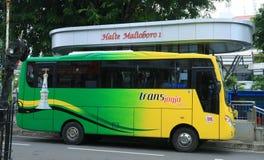 Tran Jogja Bus. Jogjakarta, Indonesia - February 6, 2018: Trans Jogja bus at Malioboro area Royalty Free Stock Photography