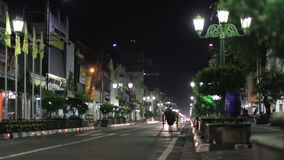 JOGJAKARTA - MAY 2012: ordinary night in indonesia stock footage
