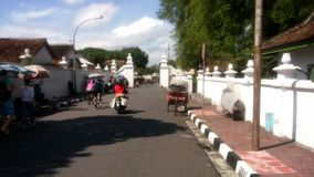 Jogjakarta Palace Street Area. In Jogjakarta Java Indonesia Royalty Free Stock Photo