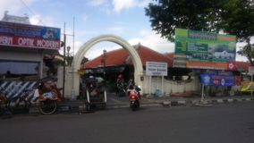 Jogjakarta Palace Street Area. In Jogjakarta Java Indonesia Stock Image