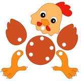 Jogo 142, a galinha a ser cortada Foto de Stock Royalty Free