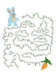 Jogo 160, o coelho e a cenoura ilustração do vetor