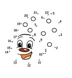 Jogo 54, os pontos ilustração royalty free