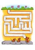 Jogo 6 - O labirinto Fotos de Stock Royalty Free