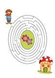 Jogo 8 - O trajeto ilustração royalty free