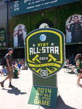 Jogo All-star 2014 de AT&T MLS Fotografia de Stock Royalty Free