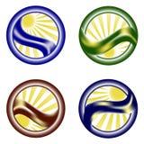 Jogo ambiental do ícone Imagem de Stock