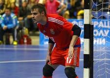 Jogo amigável de Futsal: Espanha de Ucrânia v em Kyiv, Ucrânia Imagem de Stock