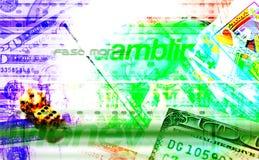 Jogo & textura do fundo do dinheiro ilustração stock