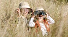 Jogo ao ar livre das crianças do divertimento Foto de Stock Royalty Free