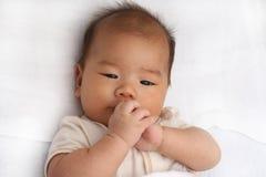 Jogo asiático do bebê Fotografia de Stock