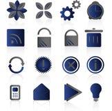 Jogo azul do ícone ilustração stock