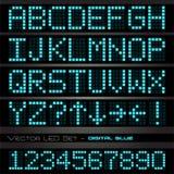 Jogo azul do diodo emissor de luz Imagens de Stock Royalty Free