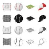 Jogo, basquetebol, rede, e o outro ícone da Web no estilo dos desenhos animados Esportes, bola, campos, ícones na coleção do grup Imagem de Stock Royalty Free