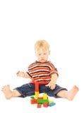 Jogo bonito da criança nova Fotos de Stock Royalty Free