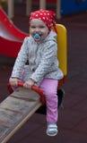 Jogo bonito da menina exterior imagens de stock royalty free