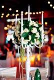 Jogo bonito da tabela do casamento Conceito do copo de água Fotografia de Stock