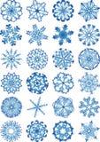 Jogo bonito do ícone dos flocos de neve Ilustração Royalty Free