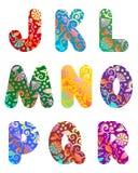 Jogo bonito do alfabeto das letras, parte 2 ilustração do vetor