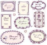 Jogo bonito do frame do doodle Imagem de Stock Royalty Free
