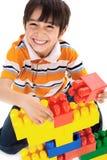 Jogo bonito do rapaz pequeno Fotografia de Stock