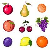 Jogo brilhante da fruta Fotografia de Stock
