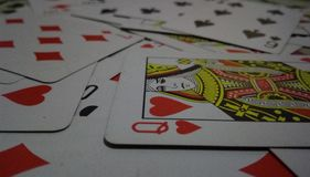 Jogo cards imagens de stock