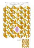 Jogo chave e fechado do labirinto das portas ilustração do vetor