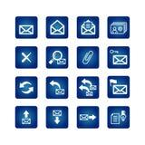 Jogo cheio de ícones do correio Foto de Stock Royalty Free