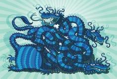 Jogo chinês do labirinto do dragão Fotografia de Stock Royalty Free