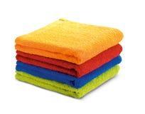 Jogo colorido de toalha Fotos de Stock Royalty Free