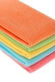 Jogo colorido de toalha de cozinha fotos de stock