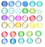 Jogo colorido do ícone ilustração stock