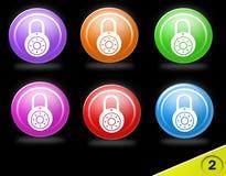 Jogo colorido do ícone da segurança Imagens de Stock