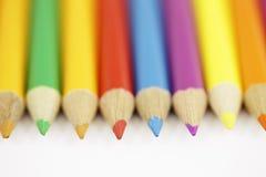 Jogo colorido do lápis foto de stock