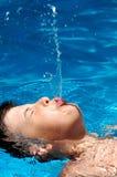 Jogo com água Fotos de Stock