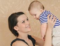 Jogo com bebê Foto de Stock Royalty Free