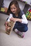 Jogo com blocos de apartamentos Fotografia de Stock Royalty Free