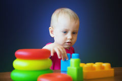 Jogo com brinquedos 7 Imagens de Stock