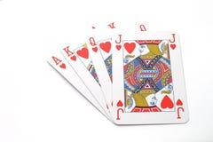 Jogo com cartões de jogo Imagens de Stock Royalty Free