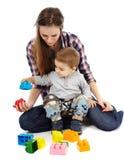 Jogo com cubos Imagem de Stock Royalty Free