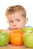 Jogo com frutas Imagem de Stock Royalty Free