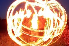 Jogo com incêndio Imagem de Stock Royalty Free