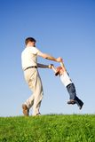 Jogo com pai Foto de Stock